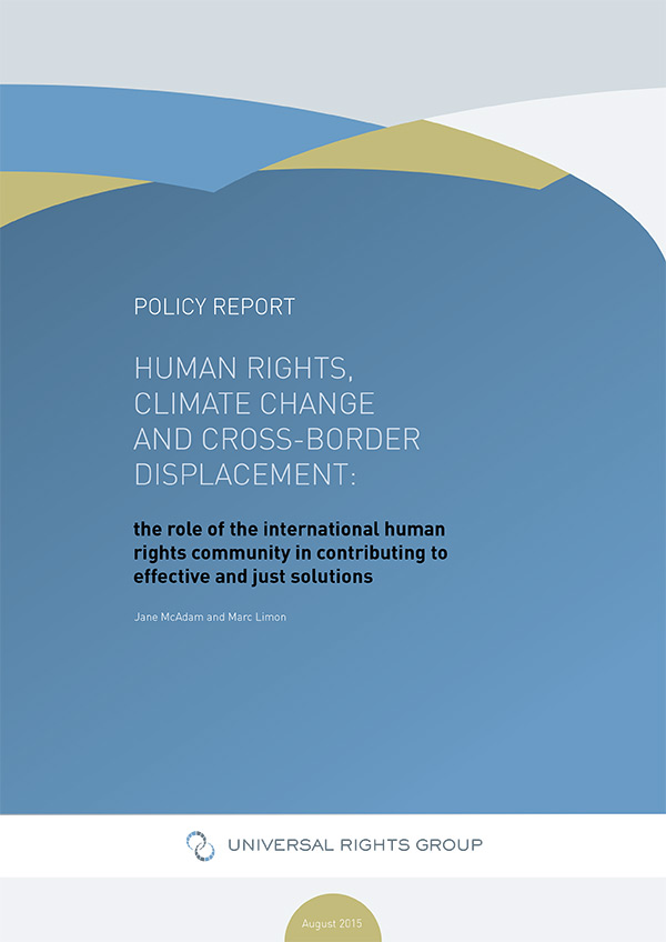 Human rights, climate change and cross-border displacement: the role of the international human rights community in contributing to effective and just solutions
