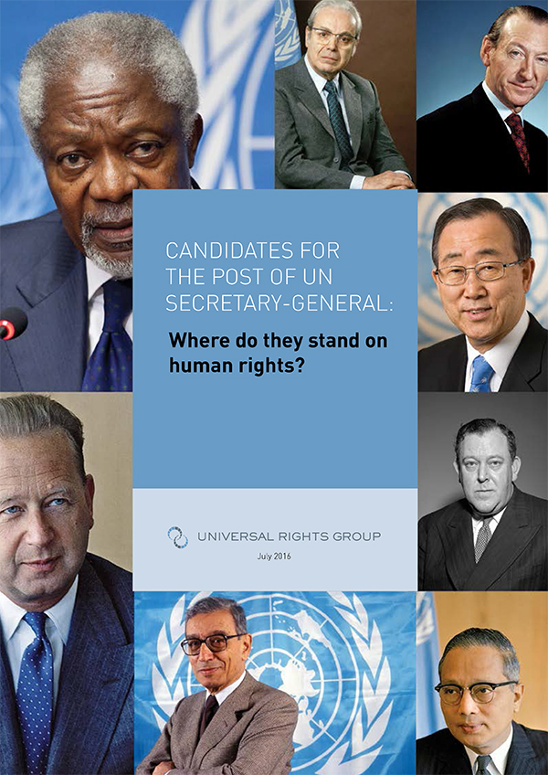 Candidates for the post of UN secretary-general: Where do they stand on human rights?