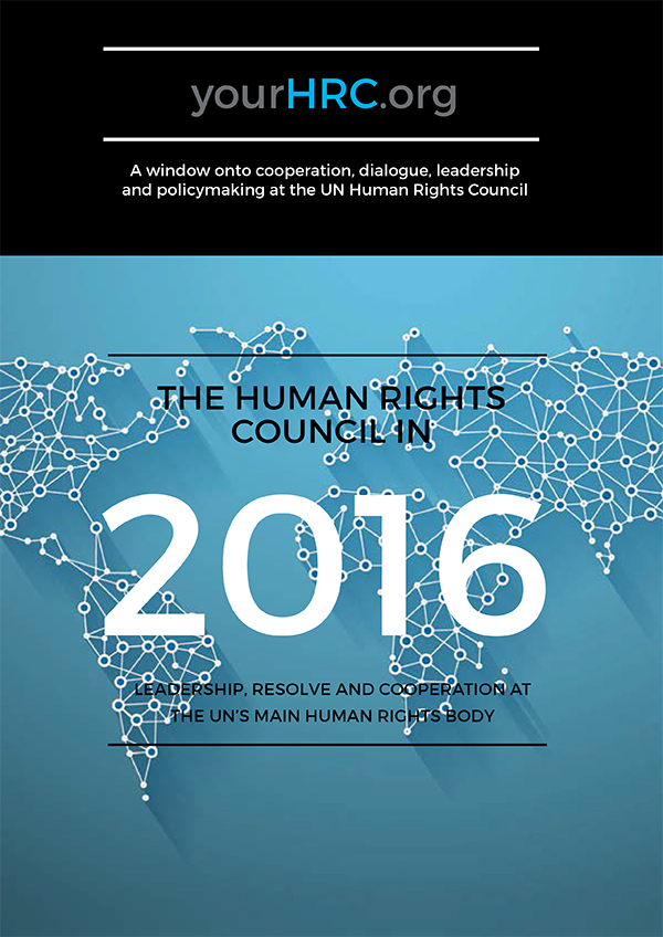 The Human Rights Council in 2016
