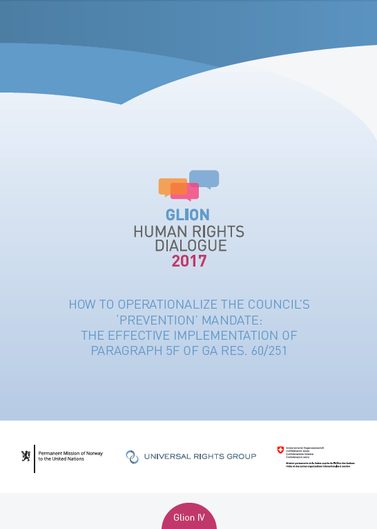 Operationalizing the Council's 'prevention' mandate (Glion IV)