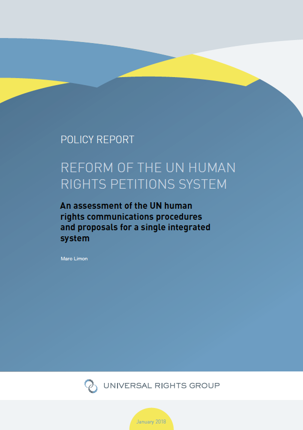 Reform of the UN human rights petitions system