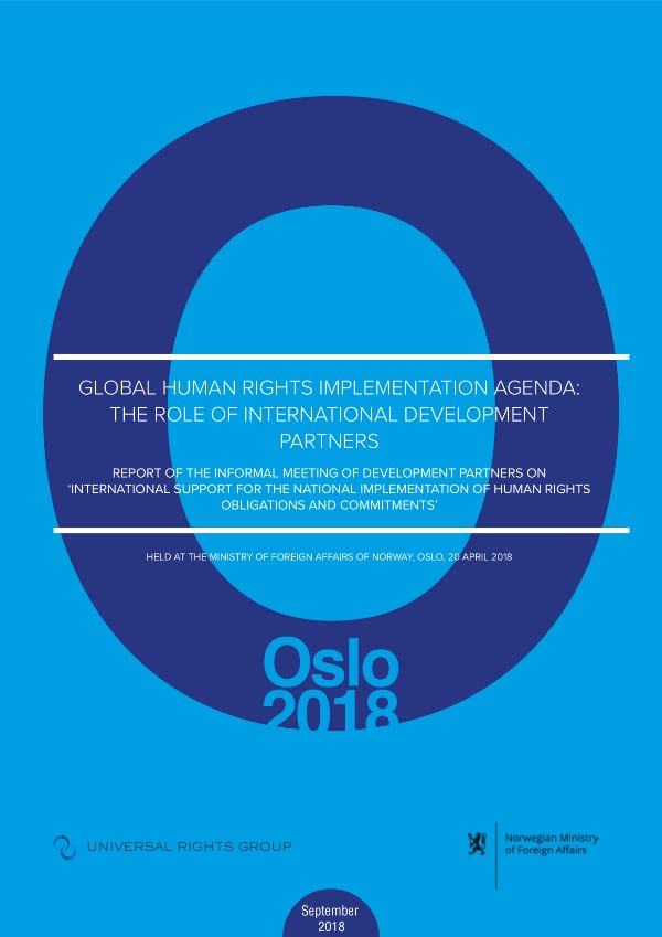 Global Human Rights Implementation Agenda:  the role of international development partners