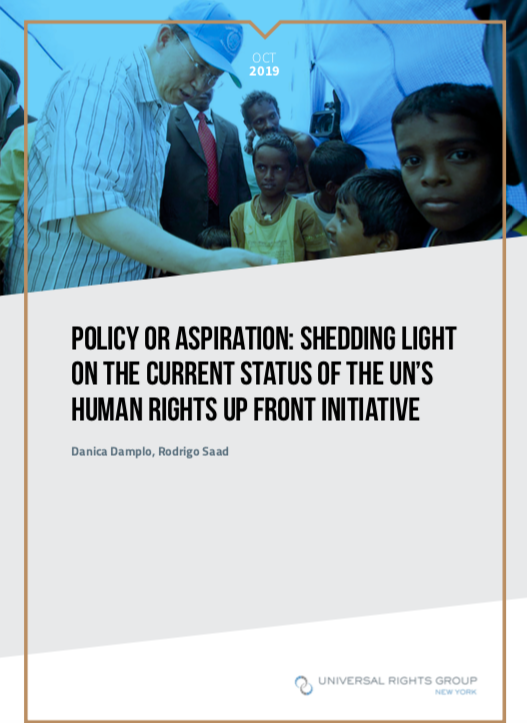 Policy or aspiration: shedding light on the current status of the UN's Human Rights Up Front initiative