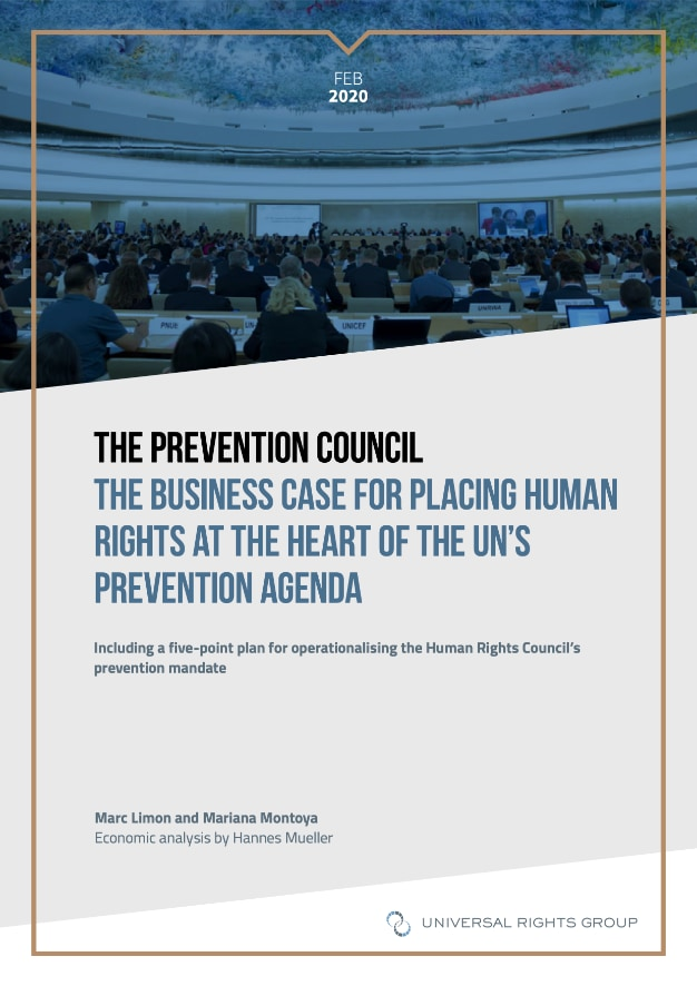 The Prevention Council: The business case for placing human rights at the heart of the UN's prevention agenda report cover