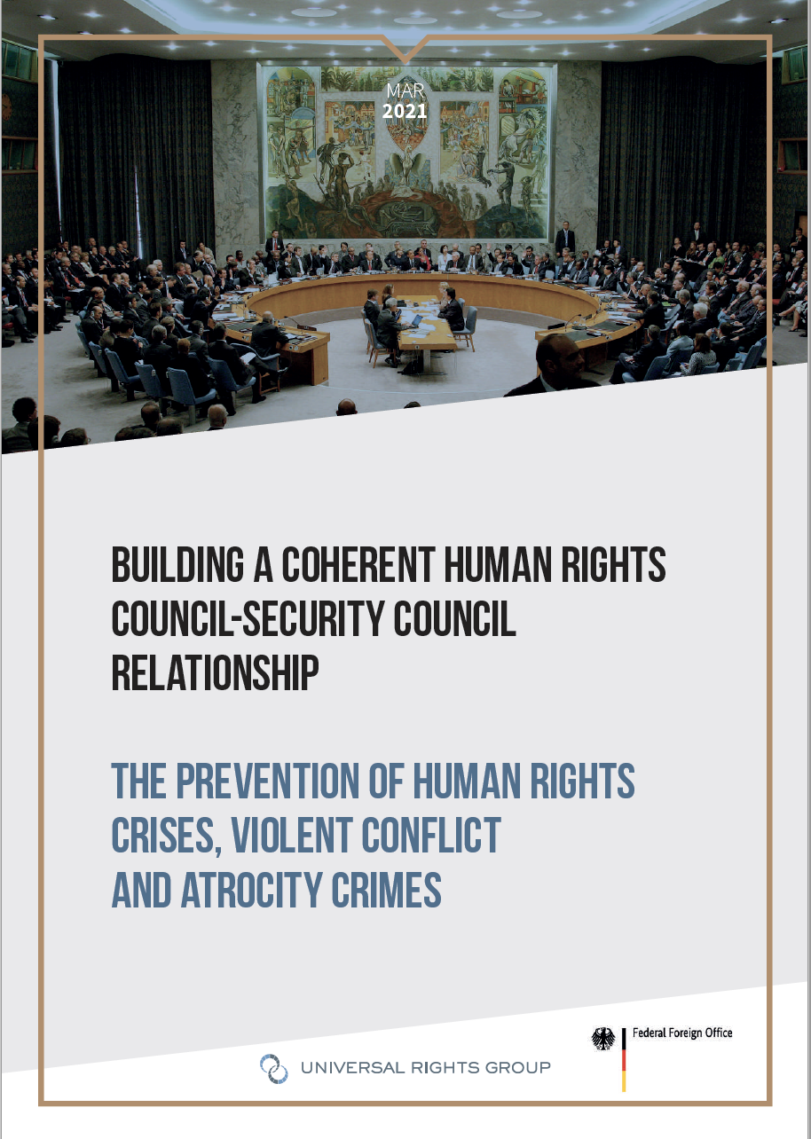 Building a coherent Human Rights Council-Security Council relationship – The prevention of human rights crises, violent conflict and atrocity crimes